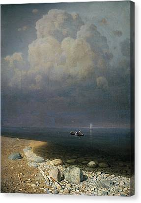 Lake Ladoga, 1873 Oil On Canvas Canvas Print by Arkip Ivanovic Kuindzi