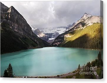 Lake Louise Panorama Canvas Print by Yuri Santin