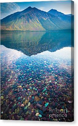 Lake Mcdonald Canvas Print by Inge Johnsson