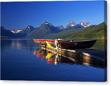 Lake Mcdonald Morning Canvas Print by Mark Kiver