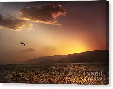 Lake Mead Sunrise Canvas Print by Robert Bales