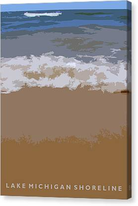 Lake Michigan Shoreline Canvas Print by Michelle Calkins