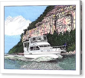 Lake Of The Ozarks Yachting Canvas Print by Jack Pumphrey