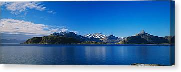 Lake On Mountainside, Sorfolda, Bodo Canvas Print by Panoramic Images