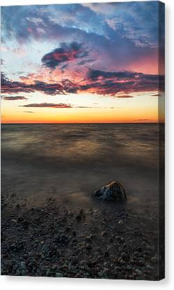 Lake Ontario Sunset Canvas Print by Mark Papke