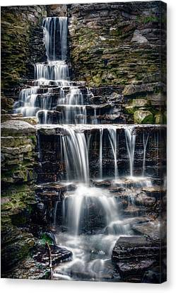 Lake Park Waterfall Canvas Print by Scott Norris