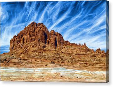 Lake Powell Rocks Canvas Print by Ayse Deniz
