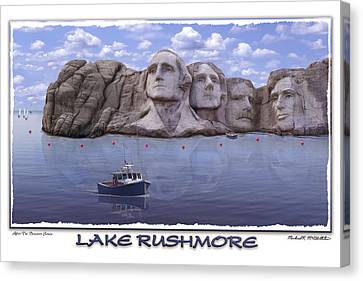 Lake Rushmore Canvas Print by Mike McGlothlen