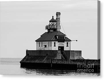 Lake Superior Lighthouse Canvas Print by Brady Rasmussen