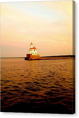 Lake Superior Serenity  Canvas Print by Danielle  Broussard