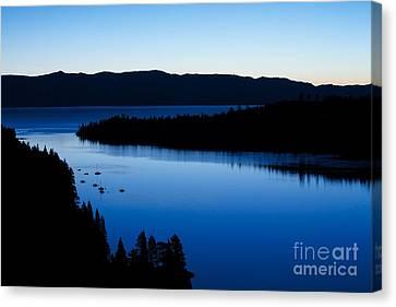 Lake Tahoe Blue Canvas Print by Mel Ashar