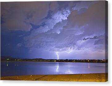 Lake View Lightning Thunderstorm Canvas Print by James BO  Insogna