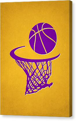 Lakers Team Hoop2 Canvas Print by Joe Hamilton