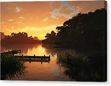 Lakeside Canvas Print by Cynthia Decker