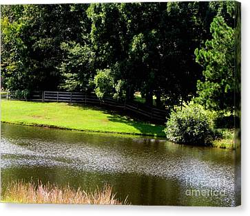 Lakeside Canvas Print by Gardening Perfection
