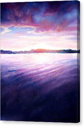 Lakeside Sunset Canvas Print by Shana Rowe Jackson
