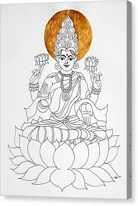 Lakshmi Canvas Print by Kruti Shah