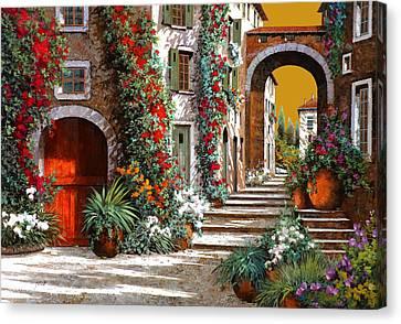 L'altra Porta Rossa Al Tramonto Canvas Print by Guido Borelli