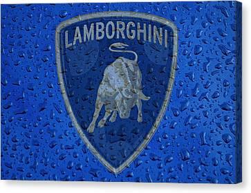 Lamborghini Rainy Window Visual Art Canvas Print by Movie Poster Prints