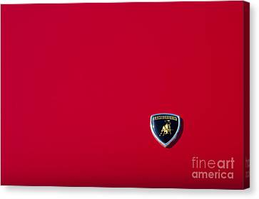 Lamborghini Red Canvas Print by Tim Gainey