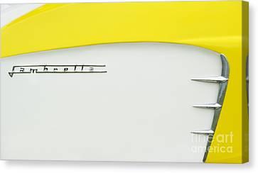 Lambretta Yellow  Canvas Print by Tim Gainey