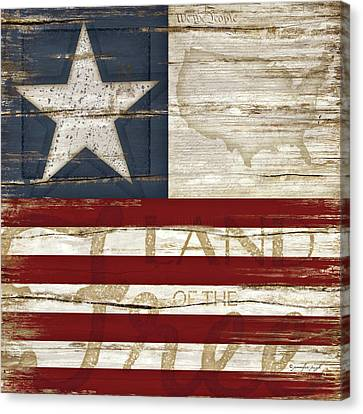 Land Of The Free Canvas Print by Jennifer Pugh