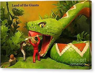 Land Of The Giants Canvas Print by John Malone