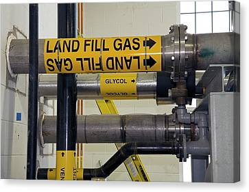 Landfill Gas Generating Electricity Canvas Print by Jim West