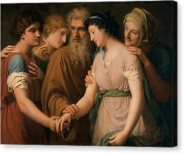 Landi Gaspare, The Marriage Of Sarah Canvas Print by Everett