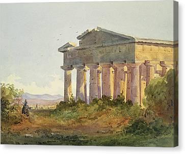 Landscape At Paestum Canvas Print by Arthur Glennie