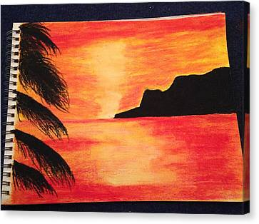 Landscape Sunset Canvas Print by  Jessica Hope