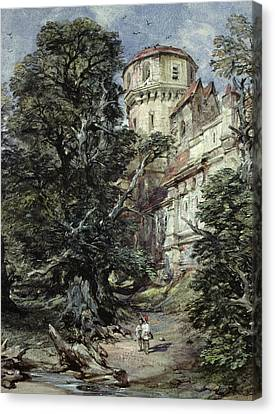 Landscape With Castle And Trees Canvas Print by George Cattermole