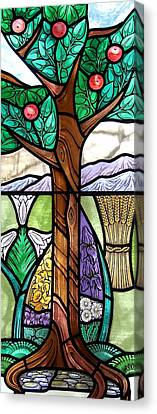 Landscape With Flora Canvas Print by Gilroy Stained Glass
