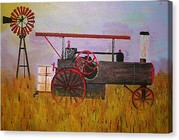 Lane Family Steam Engine Canvas Print by Harold Greer