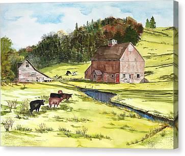 Lanesboro Barn Canvas Print by Susan Crossman Buscho