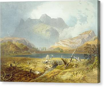 Langdale Pikes, From The English Lake Canvas Print by James Baker Pyne