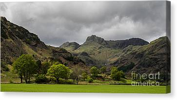 Langdale Pikes Canvas Print by John Collier