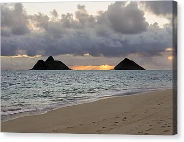Lanikai Beach Sunrise 4 - Kailua Oahu Hawaii Canvas Print by Brian Harig