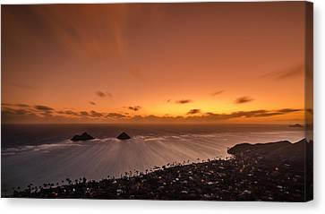 Lanikai Sunrise - Oahu Canvas Print by Tin Lung Chao