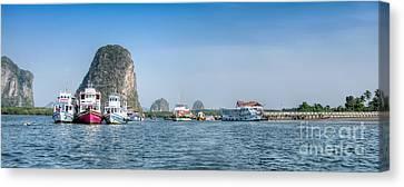 Lanta Island Dock Canvas Print by Adrian Evans