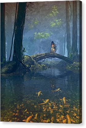 Lantern Bearer Canvas Print by Cynthia Decker