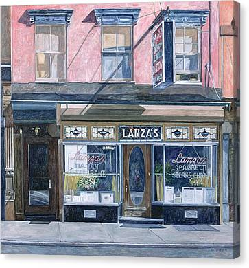 Lanza's Restaurant 11th Street East Village Canvas Print by Anthony Butera