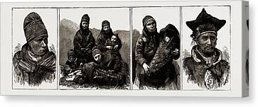 Lapps At Tromsodalen, Norway Canvas Print by Litz Collection