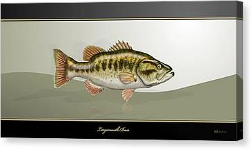 Largemouth Bass Canvas Print by Serge Averbukh