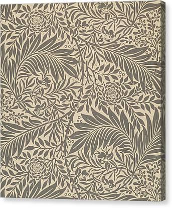 Larkspur Wallpaper Design Canvas Print by William Morris