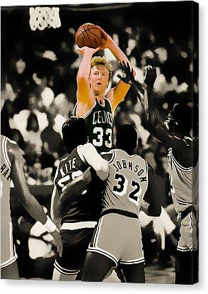Larry Bird Canvas Print by Brian Reaves