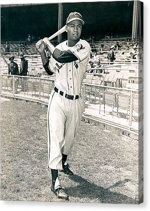 Larry Doby Canvas Print by Retro Images Archive