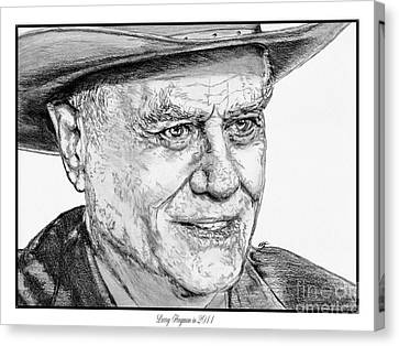Larry Hagman In 2011 Canvas Print by J McCombie