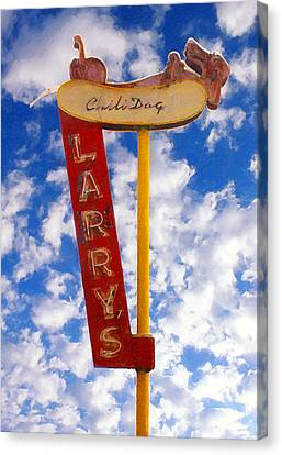 Larry's Chili Dog Canvas Print by Ron Regalado