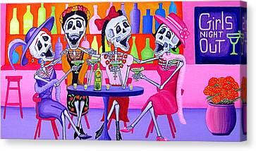 Las Borrachitas Canvas Print by Evangelina Portillo